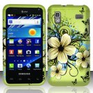 Hard Rubber Feel Design Case for Samsung Captivate Glide 4G - Hawaiian Flowers