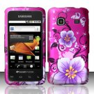 Hard Rubber Feel Design Case for Samsung Galaxy Prevail M820 - Hibiscus Flowers