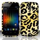 Hard Rubber Feel Design Case for Samsung Galaxy Nexus i515 - Cheetah