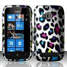 Hard Rubber Feel Design Case for Nokia Lumia 710 (T-Mobile) - Colorful Leopard
