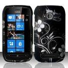 Hard Rubber Feel Design Case for Nokia Lumia 710 (T-Mobile) - Midnight Garden