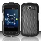 Hard Rubber Feel Design Case for Pantech Burst P9070 (AT&T) (AT&T) - Carbon Fiber