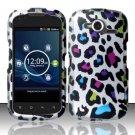 Hard Rubber Feel Design Case for Pantech Burst P9070 (AT&T) (AT&T) - Colorful Leopard