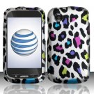 Hard Rubber Feel Design Case for ZTE Avail Z990 - Colorful Leopard