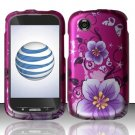 Hard Rubber Feel Design Case for ZTE Avail Z990 - Hibiscus Flowers