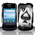 Hard Rubber Feel Design Case for ZTE Fury N850 - Spade Skull