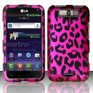 Hard Rubber Feel Design Case for LG Viper 4G LTE/Connect 4G (Sprint/MetroPCS) - Pink Leopard