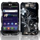 Hard Rubber Feel Design Case for LG Viper 4G LTE/Connect 4G (Sprint/MetroPCS) - Midnight Garden