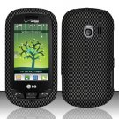 Hard Rubber Feel Design Case for LG Extrovert VN271 (Verizon) - Carbon Fiber