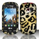 Hard Rubber Feel Design Case for LG Extrovert VN271 (Verizon) - Cheetah