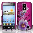 Hard Rubber Feel Design Case for LG Nitro HD P930/P960 (AT&T) - Hibiscus Flowers