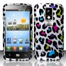 Hard Rubber Feel Design Case for LG Nitro HD P930/P960 (AT&T) - Colorful Leopard