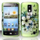 Hard Rubber Feel Design Case for LG Nitro HD P930/P960 (AT&T) - Hawaiian Flowers