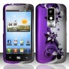 Hard Rubber Feel Design Case for LG Nitro HD P930/P960 (AT&T) - Purple Vines