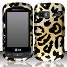 Hard Rubber Feel Design Case for LG Rumor Reflex (Sprint/Boost) - Cheetah