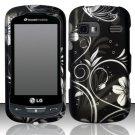 Hard Rubber Feel Design Case for LG Rumor Reflex (Sprint/Boost) - Midnight Garden