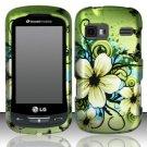 Hard Rubber Feel Design Case for LG Rumor Reflex (Sprint/Boost) - Hawaiian Flowers