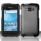 Hard Rubber Feel Design Case for Samsung Rugby Smart i847 - Carbon Fiber