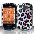 Hard Rubber Feel Design Case for Samsung Brightside U380 - Colorful Leopard