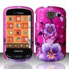 Hard Rubber Feel Design Case for Samsung Brightside U380 - Hibiscus Flowers