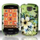 Hard Rubber Feel Design Case for Samsung Brightside U380 - Hawaiian Flowers