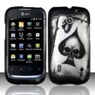 Hard Rubber Feel Design Case for Huawei Fusion (AT&T) - Spade Skull