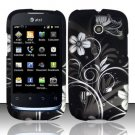 Hard Rubber Feel Design Case for Huawei Fusion (AT&T) - Midnight Garden