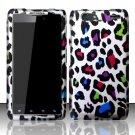 Hard Rubber Feel Design Case for Motorola Droid RAZR MAXX XT913/XT916 (Verizon) - Colorful Leopard