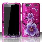 Hard Rubber Feel Design Case for Motorola Droid RAZR MAXX XT913/XT916 (Verizon) - Hibiscus Flowers