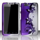 Hard Rubber Feel Design Case for Motorola Droid RAZR MAXX XT913/XT916 (Verizon) - Purple Vines