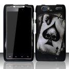 Hard Rubber Feel Design Case for Motorola Droid RAZR MAXX XT913/XT916 (Verizon) - Spade Skull