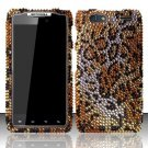 Hard Rhinestone Design Case for Motorola Droid RAZR MAXX XT913/XT916 (Verizon) - Cheetah