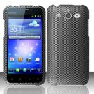 Hard Rubber Feel Design Case for Huawei Mercury M886 (Cricket) - Carbon Fiber