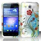 Hard Rubber Feel Design Case for Huawei Mercury M886 (Cricket) - Autumn Garden