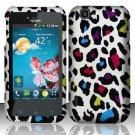 Hard Rubber Feel Design Case for LG myTouch LU9400 (T-Mobile) - Colorful Leopard