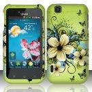 Hard Rubber Feel Design Case for LG myTouch LU9400 (T-Mobile) - Hawaiian Flowers