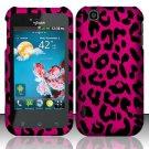 Hard Rubber Feel Design Case for LG myTouch LU9400 (T-Mobile) - Pink Leopard