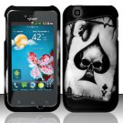 Hard Rubber Feel Design Case for LG myTouch LU9400 (T-Mobile) - Spade Skull