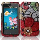 Hard Rhinestone Design Case for LG myTouch LU9400 (T-Mobile) - Fall Flowers