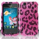 Hard Rhinestone Design Case for LG myTouch LU9400 (T-Mobile) - Pink Leopard