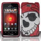 Hard Rhinestone Design Case for Motorola Droid 4 XT894 (Verizon) - Pirate Skull