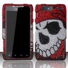 Hard Rhinestone Design Case for Motorola Droid RAZR MAXX XT913/XT916 (Verizon) - Pirate Skull