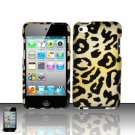 Hard Rubber Feel Design Case for Apple iPod Touch 4 - Cheetah