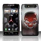 Hard Rubber Feel Design Case for Motorola Droid RAZR XT912 (Verizon) - Red Skull