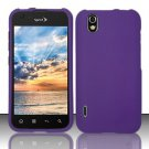 Hard Rubber Feel Plastic Case for LG Marquee LS855/Optimus Black (Sprint/Boost) - Purple