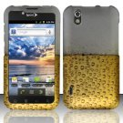 Hard Rubber Feel Design Case for LG Marquee LS855/Optimus Black (Sprint/Boost) - Beer Bubbles