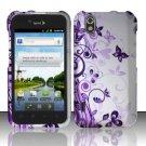 Hard Rubber Feel Design Case for LG Marquee LS855/Optimus Black (Sprint/Boost) - Purple Garden