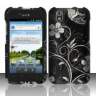 Hard Rubber Feel Design Case for LG Marquee LS855/Optimus Black (Sprint/Boost) - Midnight Garden