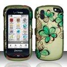 Hard Rubber Feel Design Case for Pantech Hotshot 8992 - Azure Flowers