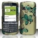 Hard Rubber Feel Design Case for Samsung Replenish M580 M580 - Azure Flowers